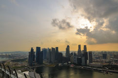 Singapore city skyline Marina Sands Bay Stock Photo