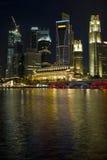 Singapore City Skyline at Night Royalty Free Stock Photos