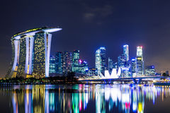 Singapore city skyline Stock Image