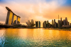Singapore city skyline. Royalty Free Stock Photography