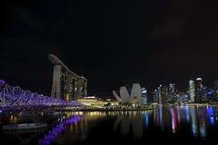 Singapore city skyline at night Stock Photos
