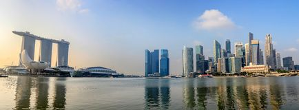 Singapore panorama skyline Royalty Free Stock Photo