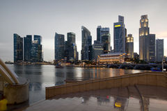Singapore City Skyline on a Rainy Day Stock Photography