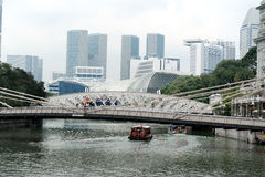 Singapore City Skyline and river view Royalty Free Stock Photography