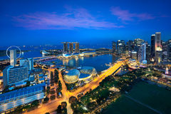 Singapore city skyline Royalty Free Stock Photo