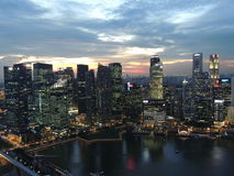 Singapore city skyline. Singapore city sky line from marina bay Royalty Free Stock Image