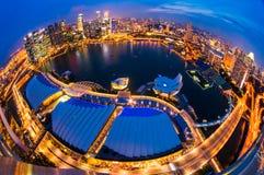 Singapore city skyline at sunset. Stock Images