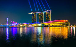 Singapore city skyline at sunset. Stock Images