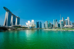 Singapore city skyline at sunset. Royalty Free Stock Photos