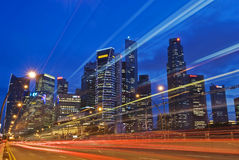 Singapore City Skyline Traffic Stock Photos