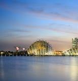Singapore city skyline at twilight. Stock Photos
