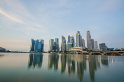 Singapore city skyline view of business district Royalty Free Stock Photos