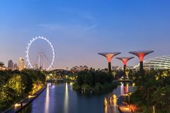 Gardens by the bay - Singapore Stock Images