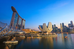 Singapore. City skyline view at Marina Bay stock photography
