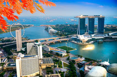 Singapore city skyline. Royalty Free Stock Image