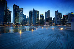 Singapore city. In sunset time Royalty Free Stock Photography