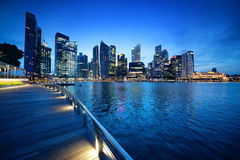 Singapore city. In sunset time Stock Image