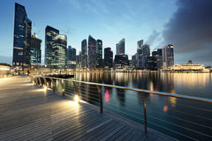 Singapore city. In sunset time Stock Photography