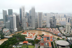 Singapore city view. Along Singapore river Stock Photos