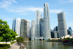 Singapore city. View of the business district in Singapore Royalty Free Stock Photography