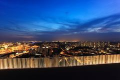 Singapore City View From Duxton. Singapore city at sunset, Duxton Stock Photo