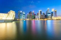 Singapore city. View of the financial district and business office building in singapore city Royalty Free Stock Image