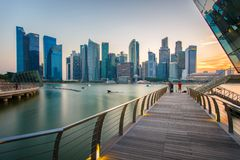 Singapore city. View of the financial district and business office building in singapore city Stock Images