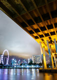 Singapore city view with freeway Stock Image