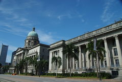 Singapore cityhall Royalty-vrije Stock Afbeelding