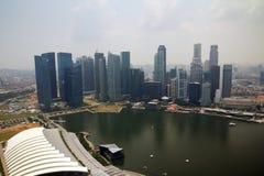 Singapore cityline. View from Marina bay skypark Royalty Free Stock Photography