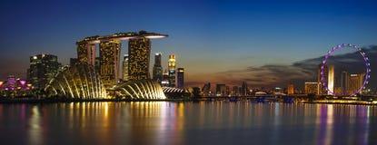 Singapore Cityscape Royaltyfria Bilder