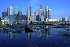 Singapore cityscape Arkivfoton