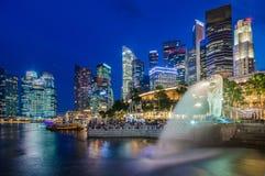 Singapore Cityscape Fotografering för Bildbyråer