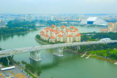 Singapore cityscape, birds-eye view Stock Images