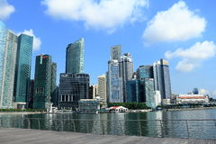 Singapore cityscape. The cityscape of singapore cbd that around singapore river Stock Photo