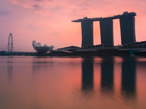 Singapore cityscape at dawn Stock Image