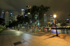 Singapore Cityscape in the evening Royalty Free Stock Photography