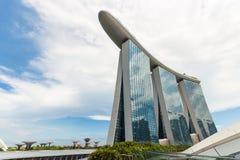 Singapore cityscape i dag Myra?gonsikt fotografering för bildbyråer