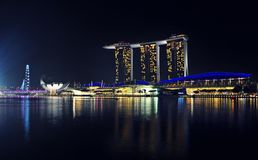 Singapore cityscape Marina Bay Royalty Free Stock Photography