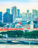 Singapore cityscape, modern district construction stock images