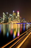Singapore Cityscape at Night Royalty Free Stock Photography
