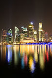 Singapore Cityscape at Night Royalty Free Stock Image