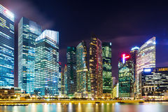 Singapore cityscape at night Stock Photos
