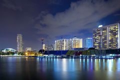 Singapore cityscape at night Stock Image