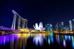 Singapore cityscape at night. Royalty Free Stock Photography