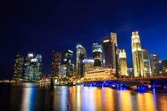 Singapore Cityscape at night Royalty Free Stock Photo