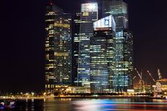 Singapore Cityscape at night Stock Photography