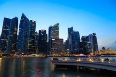 Singapore Cityscape at night Royalty Free Stock Image
