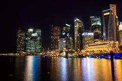 Singapore Cityscape at night Royalty Free Stock Photos
