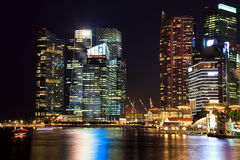 Singapore Cityscape at night Royalty Free Stock Images